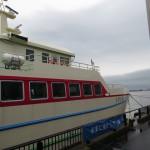 飛島へは酒田港からフェリーで1時間15分ほど。けっこう欠航する。