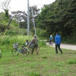 飛島は南北2kmほどの小さな島で無料自転車で移動