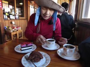 ケーキバイキング!はさすがにパス。ケーキセット900円。