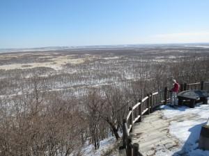 サテライト展望台の眺望も冬は空気が澄んでいてスッキリ